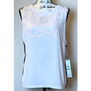 Calvin Klein | Performance Logo Keyhole Back Tank